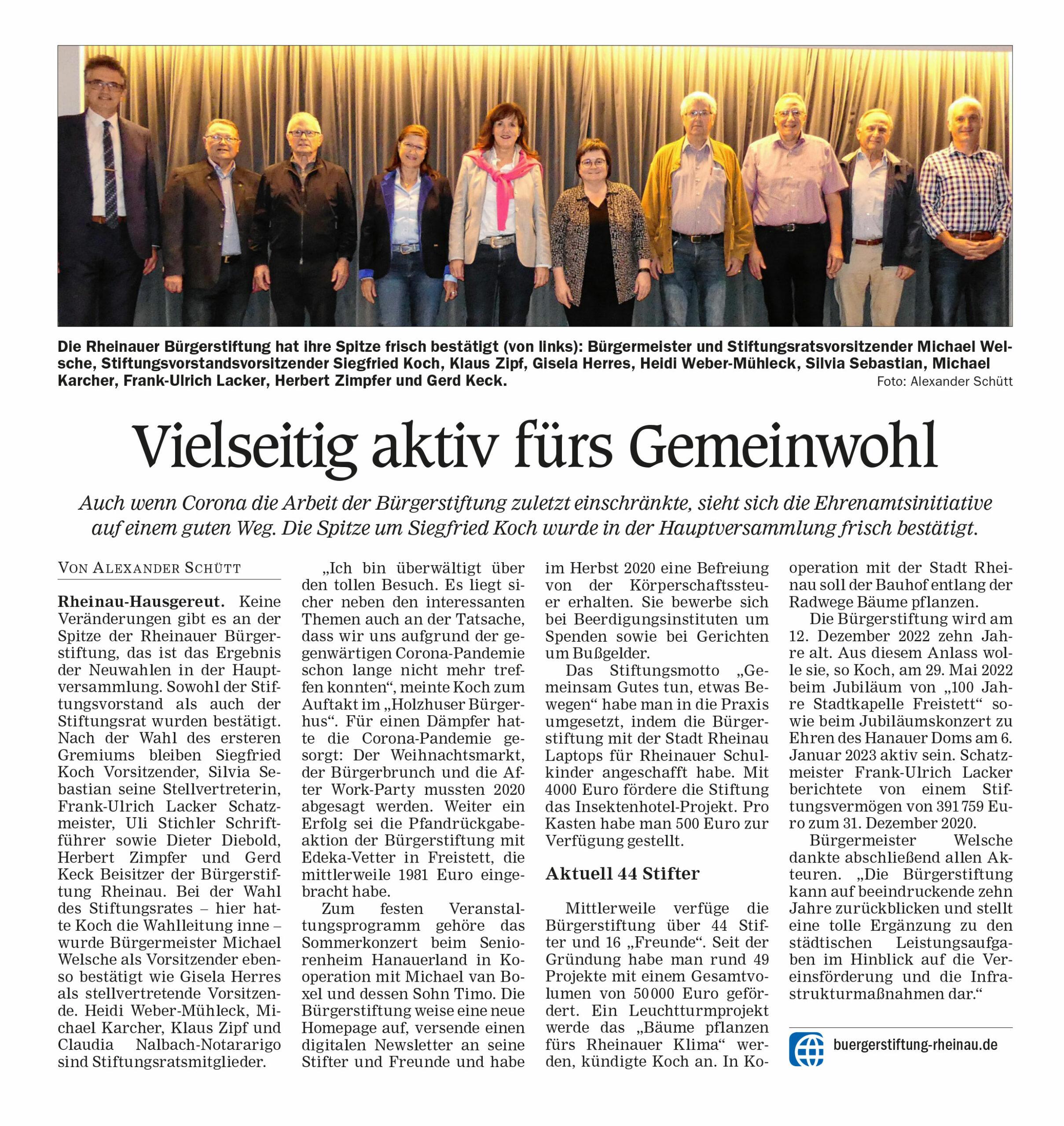 Pressebericht in der Kehler Zeitung
